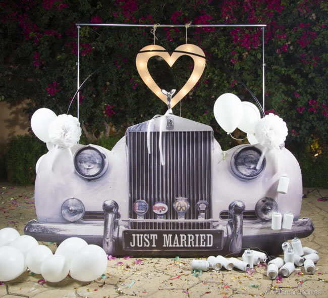 Ideas para tener un photocall original en tu boda for Photocall boda vintage
