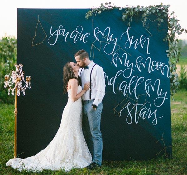 Ideas para tener un photocall original en tu boda